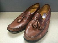 Sandro Moscolini La Vida Brown Tassel Loafers Shoes Size 9.5 Made in Spain