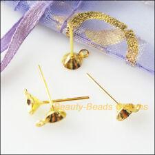 20Pcs lote de joyas Círculo baloncesto esposas aretes aros chapado en oro 20mm