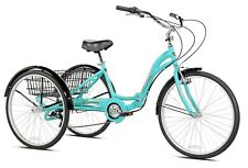 Monterey Adult Folding Trike Aluminum Tricycle Huge Cargo Basket Blue 3 Wheels