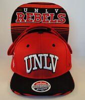 UNLV Rebels NCAA Zephyr Snapback Hat Cap Red Black