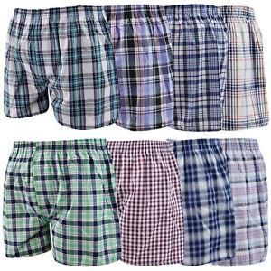 Mens Woven Boxer Shorts Loose Fit Cotton 3 6 12 24 Underwear Pants Lot All Sizes