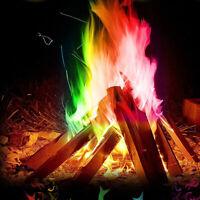 Mystical Fire Magic Tricks Bonfire Camp Fire Colorful Flame Powder Games Toys