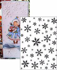 Darice Embossing Folders SNOWFLAKE BACKGROUND folder 5x7 1218-97 Christmas