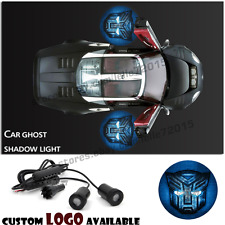 Car LED Door Welcome Projector Blue Transformers Autobot Logo Ghost Shadow Light