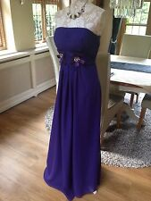 LIGHT IN THE BOX PURPLE PROM BANDEAU EVENING DIAMANTE LONG BALL GOWN DRESS 12