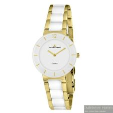 JACQUES LEMANS HighTech Ceramic Uhr 42-3F Damen Armbanduhr gold-weiß Keramik