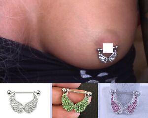 Butterfly Nipple Jewelry Nipple Barbell 14g Nipple Piercing Nipple Ring Bar Body