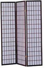 Room Screen Divider 3-Panel Wooden Apartment Bed Folding Panels Dorm Privacy Nib