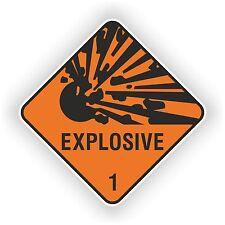 1x Explosive NEW Design Warning Sticker Door Auto Moto Truck Ski Helmet Car #02