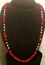 White Necklace Men's Red and