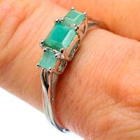 Zambian Emerald 925 Sterling Silver Ring Size 9 Ana Co Jewelry R32808F
