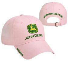 NEW John Deere Pink Twill Cap Hat Owner's Edition NRLD JD Logo 228424