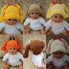 New Cabbage Patch Dolls Hat Knit Crochet Baby Hat Broccoli Hat Wig Hat 0-4 Year