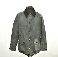 MENS BARBOUR ASHBY MWX0339NY92 WAXED COTTON JACKET SIZE M BLUE