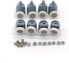 Lot de 8 roues roulettes galets pour porte de cabine de douche mécanisme 23MM