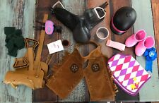 American Girl Doll Horse Riding Outfits Saddle Boots Bucket Brush 1st Non Brand