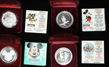 4 Mickey Mouse 1 Troy Oz .999 Silver Collectables 99c NO RESERVE  Witter Coin