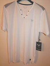 VERSACE ITALIA V 19-69 MENS 100% COTTON T-SHIRT WHITE STUDS sz M NEW AUTHENTIC