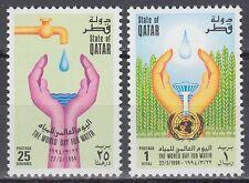 Qatar 1994 ** Mi.1031/32 Umweltschutz Environment Water Wasser