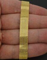 10k Yellow Solid Gold Bismark-Link Bracelet 10mm 7''  7.5''  8''