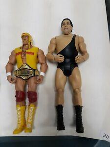 WWE Mattel Defining Moments Hulk Hogan Andre the Giant Wrestlemania Figure lot