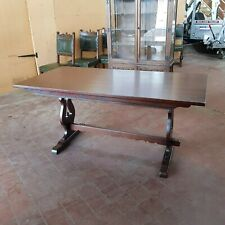 ANTIQUE/REPRODUCTION OAK OLD CHARM REFECTORY DINNING/KITCHEN TABLE TUDOR BROWN