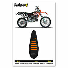 1998-2000 KTM SX 125-250-380 SEAT COVER Ribbed GRIPPER JDR by Enjoy MFG