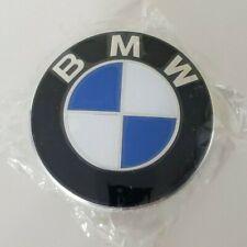 (1) BMW Emblem Wheel Center Cap Clip-On 68mm 36136783536 PA6-MX GF30 Italy New
