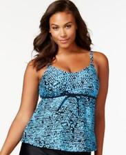 61d0ffe0724 Geometric Plus Size Tankini Top Swimwear for Women