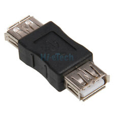 New USB 2.0 A Female To A Female F-F Coupler ADAPTER CONNECTOR Black Durable