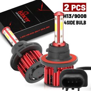 4SIDE 98W 9800LM LED Headlight H13 9008 High/Low Beam Bulbs 6000K White Light