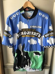 PEARL IZUMI BEN and JERRY'S Ice Cream Men's XL Cycling Jersey Biking  Italy