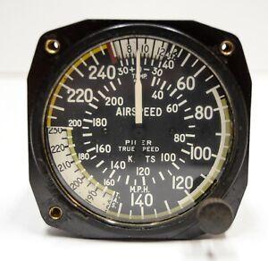 Edge CHIP 0-250 mph Piper True Speed Airspeed Indicator Cockpit Dash Gauge Vtg