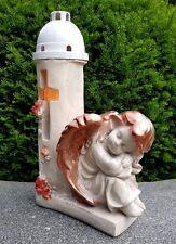Engel Figur Grablaterne Grablampe Teelicht Grablicht Schutzengel Engelfigur.