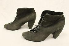 """Farylrobin 3.25"""" Heel Ankle Boot Booties Green Suede MM1 Women's Size 8.5"""