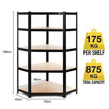 2 X Galvanised Steel Shelving Heavy Duty Metal Storage Garage Shelf 5 Tier Bays