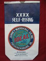 Vintage Antique Ideal 5 Lb Flour Sack Bag Fredericksburg West Virginia #2