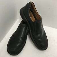 Ecco Mens Black Leather  Size 47 EU Size 13-13.5 M US Shock Point Slip On Loafer