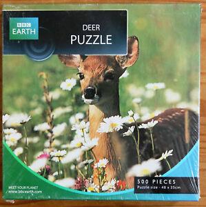 500-Piece Jigsaw - BBC Earth - Sika Deer - New/Sealed