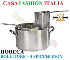 BOLLITORE 25 LITRI D 40 CUOCIPASTA CASSERUOLA INOX 4-SPICCHI PROF 86002 INDUZION