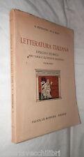 LETTERATURA ITALIANA Volume Primo G Petrocchi P G Ricci Le Monnier 1954 Critica