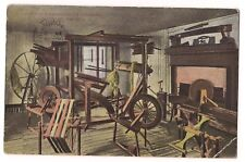 MARTHA WASHINGTON'S SPINNING WHEEL ROOM Mount Vernon  Virginia Postcard VA 1920