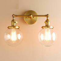 Vintage Wall Lamps Fixtures Dual Incandescent Bulb Lights For Home Hallway Decor