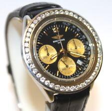 Breitling 1884 Stainless Steel B55047 Diamond Bezel Watch