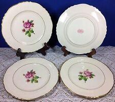 Syracuse China Rosalie Federal Shape Salad Plates Set of 4