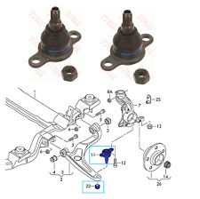 PAIR VW TRANSPORTER T5 T6 / Front Axle L+R Van Lower Ball Joints / TRW