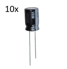 2 PEZZI CONDENSATORE ELETTROLITICO VERTICALE 1000uF 25V 105° 10x17 PASSO 5mm