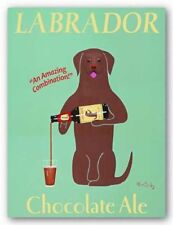 Lab Chocolate Ale by Ken Bailey Signs Print 8x10
