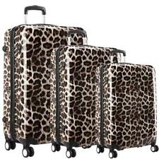 Hardshell Leopard Print Trolley Suitcase 4 Wheel Luggage Hand Case Lightweight