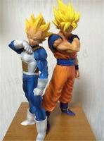 2Pcs/Set Dragon Ball Son Goku Super Saiyan Vegeta PVC Figures Toy No Box